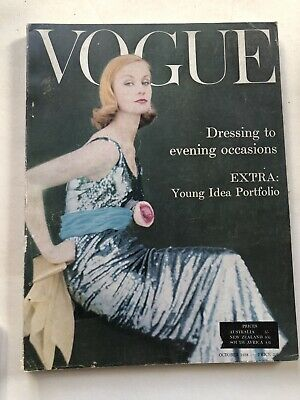 VOGUE MAGAZINE 1958 October free gift wrap Fast dispatch