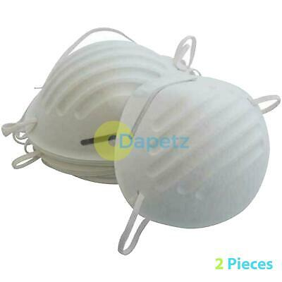 2 x NUISANCE LIGHTWEIGHT DUST SAFETY MASK WITH ELASTIC STRAP PAINTING ETC