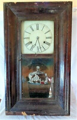 Antique Very Large 'Forestville E.N. Welch' Wall Clock USA for Spares Repairs