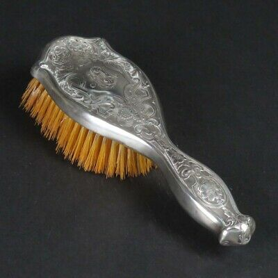 Antique sterling silver mounted hair brush R Blackinton 1899 vanity monogram MM