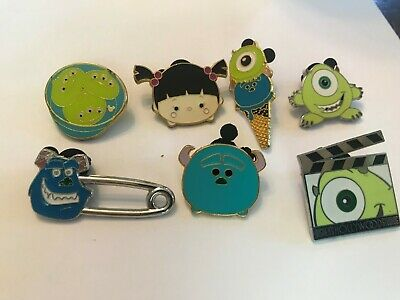 7 Monsters Inc Disney Themed Pins Lot 25