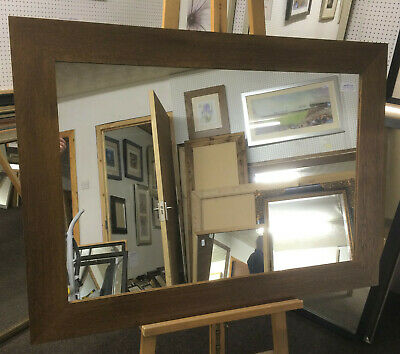 TRADE PRICED 93mm SHAPED SOLID OAK FRAMED OVERMANTLE WALL MIRRORS