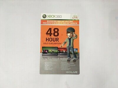 48 Hour Xbox Live Gold Trial Subscription