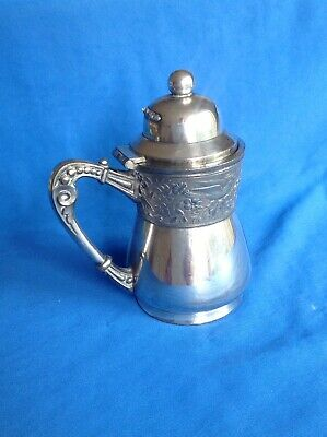 Quality Vintage Or Antique Silver Plated Milk Jug With Internal Spout