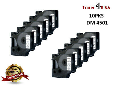 10PK Black on White Compatible Label Tape For DYMO D1 45013 LabelManager Printer