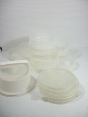 Tupperware Hamburger Set Patty Keeper 10 containers 5 Lids & Press