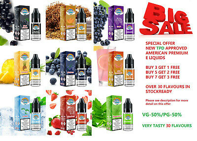 Best 10ml Vape E Liquid Smoking Juice E Cig Premium Flavours - PG VG 50/50