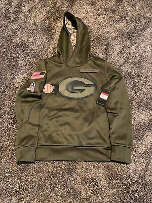 buy popular d8181 ee8e4 GREEN BAY PACKERS Salute to Service Hoodie 2016 Nike STS XL ...