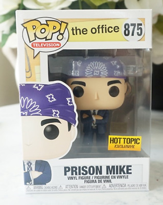 Funko Pop Prison Mike The Office Hot Topic Exclusive In Hand! Fast Shipping