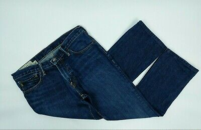 Abercrombie and Fitch Kids Boys The Baxter Low Rise Slim Boot Jeans 16 Dark Blue