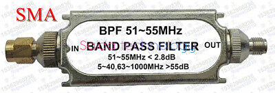 SMA connector with bandpass filter BPF bandpass BPF51-55MHz 50 ohm for air band.