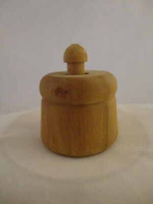 Vintage Primitive Small/Mini Wood Butter Press/Mold Star or Flower (830)