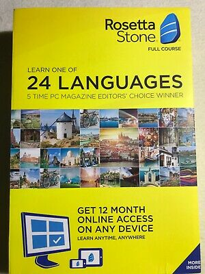 The Rosetta Stone Full Course 12 Month Use 24 Languages