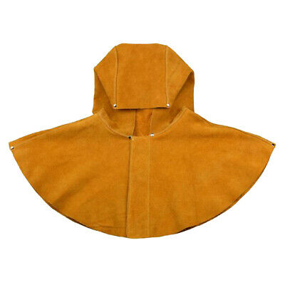 Cowhide Welder Head Neck Cover Cap Hat Protector Heat Insulation Protection