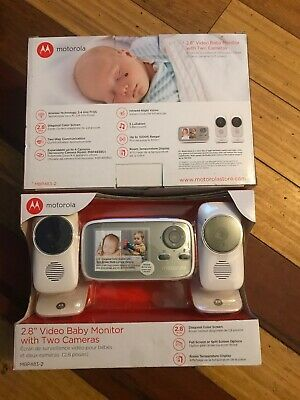 """Motorola MBP483-2 2.8"""" Video Baby Infant Monitor with Two Cameras"""