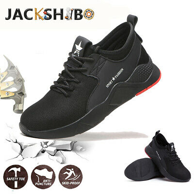 Mens Safety Work Shoes Steel Toe Cap Protective Sneakers Hiking Trainers Boots