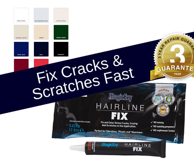 MagicEzy Hairline Fix: Seal & Color Gelcoat CRACKS & SCRATCHES Fast GUARANTEED
