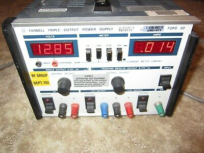 FARNELL TRIPLE OUTPUT bench  POWER SUPPLY TOPS-30 Linear