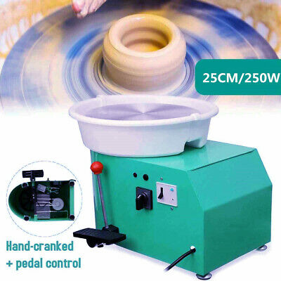 Electric Clay Pottery Machine Kit Profession Sculpting Turntable 250W Low bp