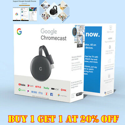 1080P 5G/2.4G Streaming Media Player - Charcoal For Chromecast 3rd Generation