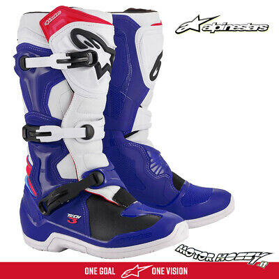 Stivali Cross Enduro Alpinestars Tech 3 Blue White Red 2020  Taglia 42