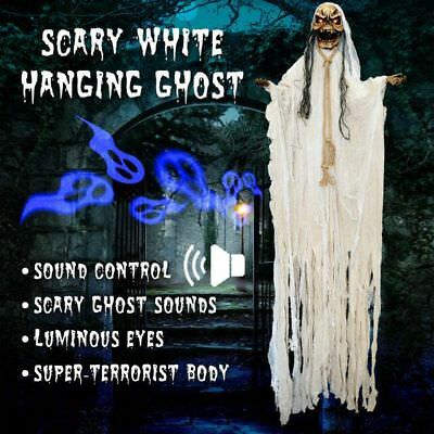 Hanging Animated Halloween Prop Reaper Ghost 6.6ft/2M Lifesize Haunted House