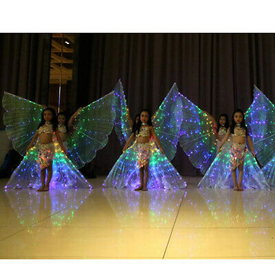 2x Women Egypt LED Isis Wings Belly Dancing Dance Costume Light up Wing