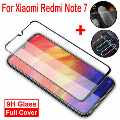 3 in 1 For Xiaomi Redmi Note 7 Camera Lens Protector Metal Ring Cover + Glass Y1
