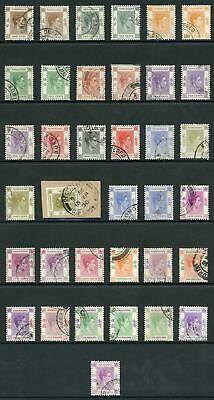 Hong Kong SG140/62 KGVI set with different perfs etc Fine Used
