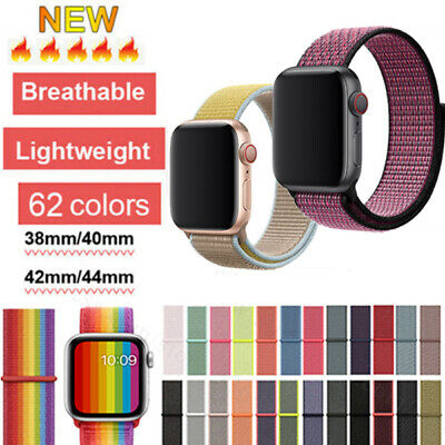 For Apple Watch Series 5/4/3/2 Nylon Sports Loop iWatch Band Strap 44/42/40/38mm