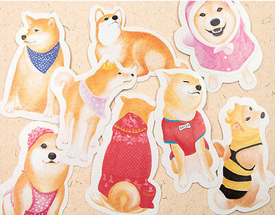 LOT 30PCS Shiba Inu Dog Illustration Irregular Postcard Dog PATTERN Card
