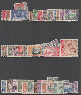 DOMINICA 1937-1951 GVI Collection hinged mint complete - 8772