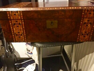 Victorian Walnut and Marquetry Writing slope