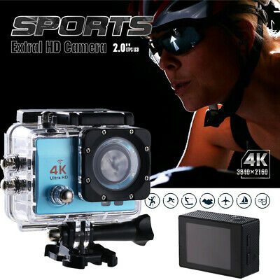 Action Camera 4K WiFi Camcorder Waterproof DV Sports Cam Go Underwater WY