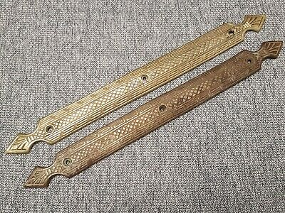 Antique Brass Horse Drawn Buggy Step/Plate - No Name - Matching pair