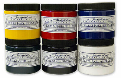 Jacquard Professional Screen Printing Ink for Fabric, Leather, Wood - 36 Colours