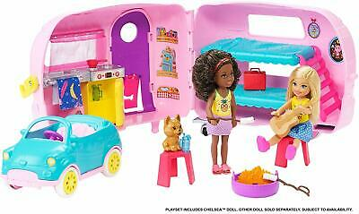 Barbie Club Chelsea Transforming Camper Campervan Toy Playset & Accessories