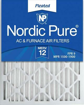 Nordic Pure 16X24X2 Merv 12 Pleated Ac Furnace Air Filters 3 Pack, 16X24X2,