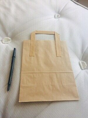 95 Brown-Kraft-Paper-Sos-Food-Carrier-Bags-With-Handles-Party-Takeaway