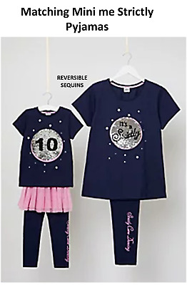 Ladies & Girls Matching Mini Me Strictly come dancing Pyjamas PJ's & SLIPPERS