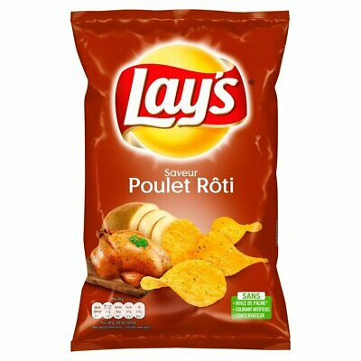 Lays Chips Roasted Chicken 130g - Imported from France
