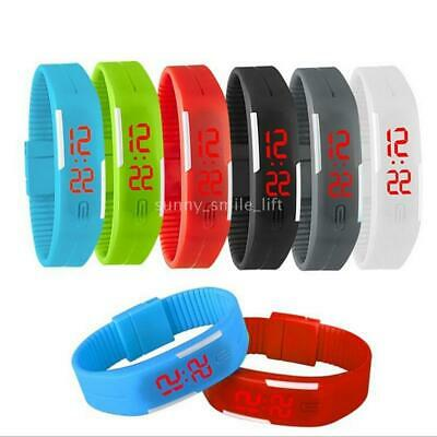 Multifunction LED Sport Electronic Digital Wrist Watch For Kids Gifts E