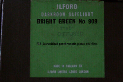 "Ilford 909 Darkroom Safe Light 5x7"" for desensetizedPanchromatic Plates & Films"