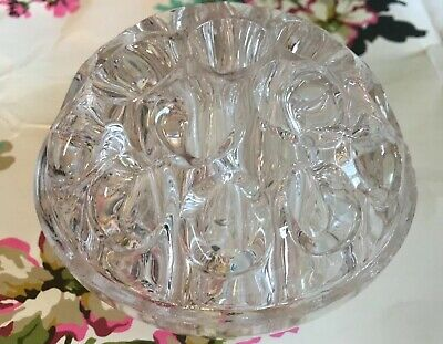 Vintage 19 Hole Clear Glass FLOWER FROG- Flower Arranging/ Posy