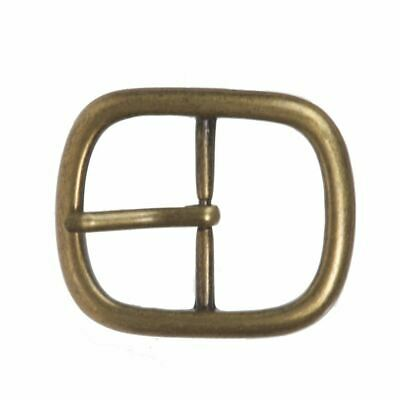 "1 3/8"" (34 mm) Nickel Free Center Bar Single Prong  Oval Belt Buckle"