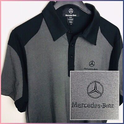 Mercedes Benz Licensed Men's Short Sleeve Embroidered Logo Polo Shirt Large 🏎