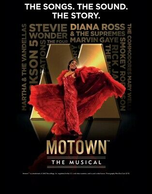 Motown The Musical Tickets x 2 Liverpool