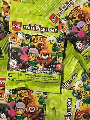 LEGO Series 19 limited edition Minifigure Blind Bag, NEW & SEALED!Lot Of 5