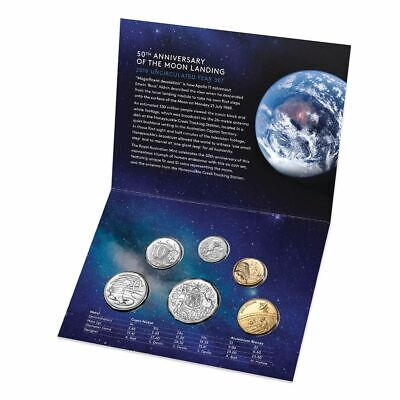 2019 RAM 6 Coin Mint Set - 50th Anniversary Of The Moon Landing AS ISSUED MINT!