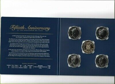 NEW 2019 RAM Uncirculated Set 50th Anniversary Of The 12 sided 50 Cent Coin